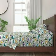 Christmas Winter Village People Snow 100 Cotton Sateen Sheet Set By Roostery