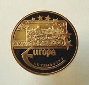 Europa Medal 100 Francs Banknote Grand Duchy Of Luxembourg Souvenir Coin Token
