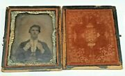 1/6 Plate Daguerreotype Of Man With Same Expression As Robert Cornelius