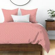 Pink Aztec Arrows Tribal Ethnic Indian Monochrome Sateen Duvet Cover By Roostery