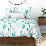 Cactus Blue Kids Indian Summer Winter Arrows Sateen Duvet Cover By Roostery