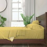 Egg Eggs Polka Dots Yellow Pattern Dot 100 Cotton Sateen Sheet Set By Roostery