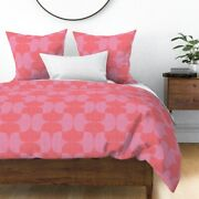 Coral Pink Lipstick Red Magenta Lavender Sateen Duvet Cover By Roostery