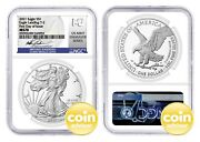 2021 1 Silver Eagle Type 2 Ngc Ms70 First Day Of Issue Gaudioso Signature
