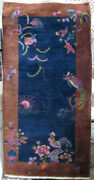 Antique Chinese Art Deco Rug 1920and039s 3and039 By 6and039