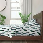 Feathers Arrows Tribal Blue Indian 100 Cotton Sateen Sheet Set By Roostery