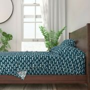 Sailing Knots Blue White Nautical Ship 100 Cotton Sateen Sheet Set By Roostery