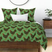 Backyard Chickens Fowl Chicken Farm Country Farm Sateen Duvet Cover By Roostery