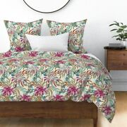 Tropical Leaves Garden Oasis Paradise Bohemian Sateen Duvet Cover By Roostery