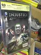 Injustice Gods Among Us 1 Signed By Mark Deering. Cbcs 9.0