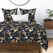 Moths And Lightbulbs Nocturnal Insects Sateen Duvet Cover By Roostery