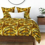 Ouija Spirit Halloween Conjure Antique Rustic Sateen Duvet Cover By Roostery
