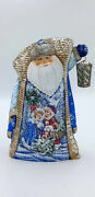 10.5 Wooden Russian Carved Santa Father Frost Ded Moroz Christmas Decoration