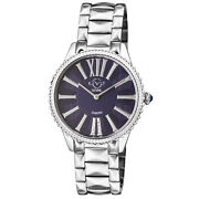 Gv2 By Gevril Womenand039s 11722 Siena Diamonds Blue Dial Stainless Steel Swiss Watch