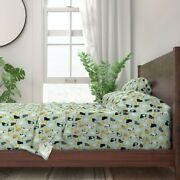 Cat Cats Taco Burritos Food Kitty 100 Cotton Sateen Sheet Set By Roostery