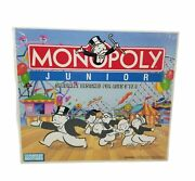 Vintage 90and039s Monopoly Junior 1990 Edition Parker Brothers Ages 5-8 New Sealed
