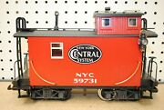 Lgb Nyc New York Central System 59731 Four-axle Caboose Car W/lights G-scale