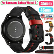 Leather Strap Watch Band For Samsung Galaxy Watch 4 40 42 44 46mm S2 S3 Frontier