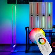 Modern Rgb Floor Lamp Color Changing Dimmable Led Standing Lamp With Remote Usa