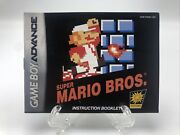 Super Mario Bros. Classic Nes Series Gba Manual Only No Game