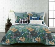 Coverlet Modern Bedspread 100 Cotton No Polyester Super King Green Tropical