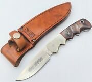 Vintage - Rare Ic Cut - Made In Japan - Silver Collection Fixed Blade Knife
