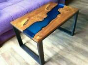 Resin Epoxy Natural Wooden Walnut Dining Bar Table Top Clear Deco Made To Order