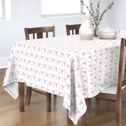 Tablecloth Cactus Pink Longhorn Skull And Green Girl Baby Texas Cotton Sateen