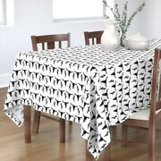 Tablecloth Longhorn Skull Cactus Black And White Nursery Baby Cotton Sateen