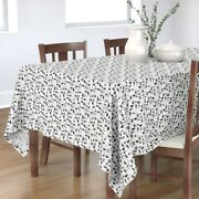 Tablecloth Raccoon Skunk Cactus Arrow Indian Black And White Kids Cotton Sateen