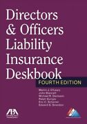 Directors And Officers Liability Insurance Deskbook Paperback By Oand039leary Mart...