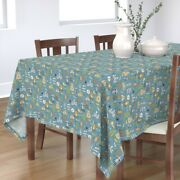 Tablecloth Camping Outdoors Woodland Raccoon Forest Outdoor Summer Cotton Sateen