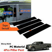 Extended 4pcs Glossy Black Pillar Post Door Trim Fit For Ford F150 2004-2014 Pc