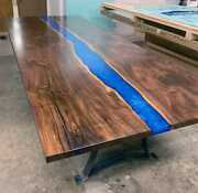 Blue River Resin Epoxy Table Coffee/dining Table Top Outdoor Decor Made To Order