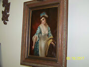 Edward Charles Barnes Listed Artist C1850and039s Original Oil On Canvas Full Portrait