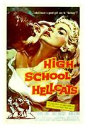 Poster On Linen High School Hellcats 1958 Us 1sht 27x41 Linenbacked Hard To Find