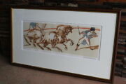 Used Claude Wise Bash Lithograph 200 Limited Framed Painting Wisebashu
