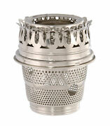 Bandp Lamp Nickel Plated Brass Cut-out Burner Designed To Fit Aladdin Brand Lamps