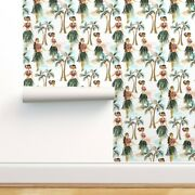 Removable Water-activated Wallpaper Hula Girls Woman Dancers Hawaii Tropical