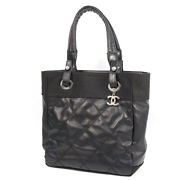 Used A/ Puri Fritz Pm Women And039s Shoulder Bag A34208 Black Silver Fittings