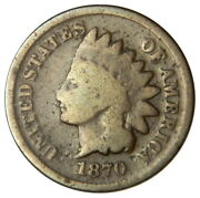 1870 Indian Head 1 Cent Penny Good G Shallow N Priced Right