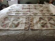 J C Penney Home Collection Patchwork-pieced Shams +matching Cutter Quilt Fabric