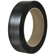 1/2 X .037 X 5575' Black 16 X 6 Core Polypropylene Embossed Strapping
