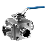 Steel And Oand039brien Blv3ct-2.5-316 2-1/2 Ball Valve T Pattern 3 Way/clamp Ends -