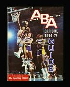 1974-75 Aba Official Guide Fresh Original One Owner Example Spine Nicks Ex-mint