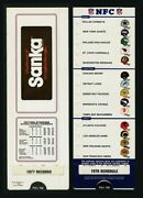 1977 Records 1978 Schedule Nfc Football Sanka Advertising Sports Guides Inc