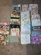 Vintage Lot Of 1950s 1960s 70s Wrapping Paper Gift Wrap Wedding Baby Bday 45+