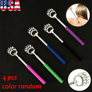 4-pack Portable Extendable Telescopic Bear Claws Metal Back Scratcher Us