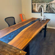 Epoxy Table Dining Sofa Center Table Edge Wood Custom Decorate Made To Order