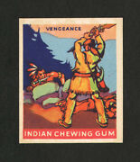 1933 Goudey Indian Gum 184 Vengeance From Original Collection